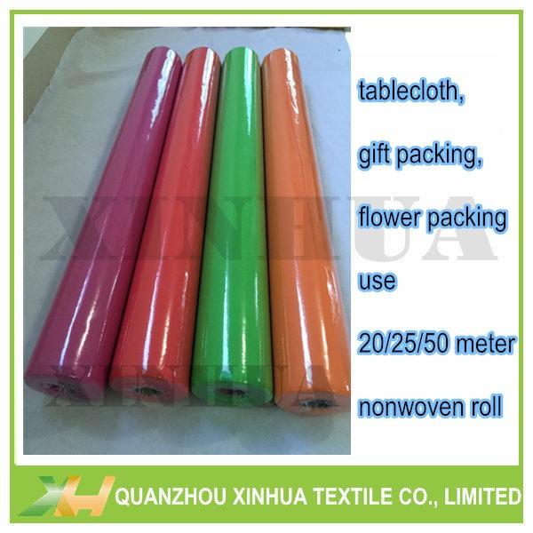 TNT non wove table rolls in 25meter per roll