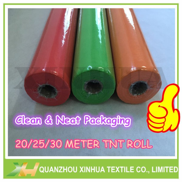 TNT non wove table rolls in 25meter per roll
