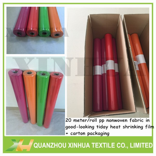 Wholesale color tnt table cloth 25meter nonwoven