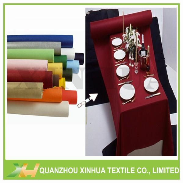 Wholesale colorful 20/ 25m TNT nonwove table rolls