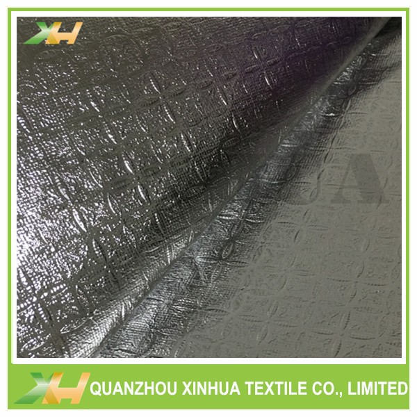China Sell Gold or Silver Color Emboss PET Laminated Non Woven Fabric