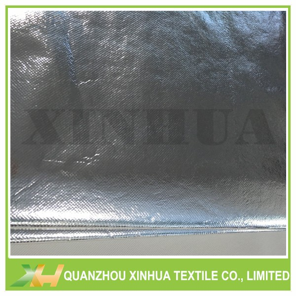China factory supply silver color coating laminated non-woven fabric