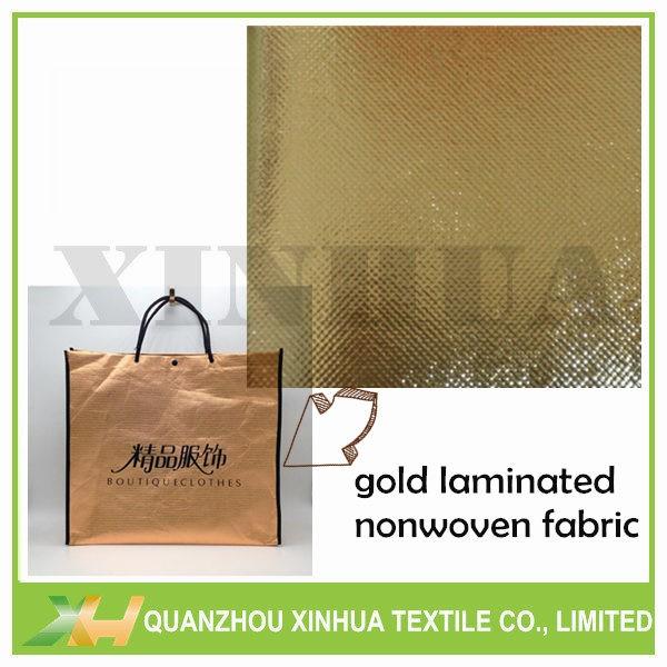 Golden Color PP PE PET Laminated Nonwoven 1.6M Width