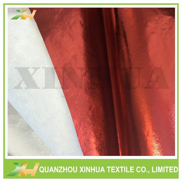 Shinning Red Color PET Laminating PP Spunbond Non Woven Fabric