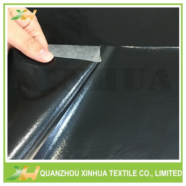 Xinhua Textile Supply Glossy Black Color Laminated Nonwoven Fabric