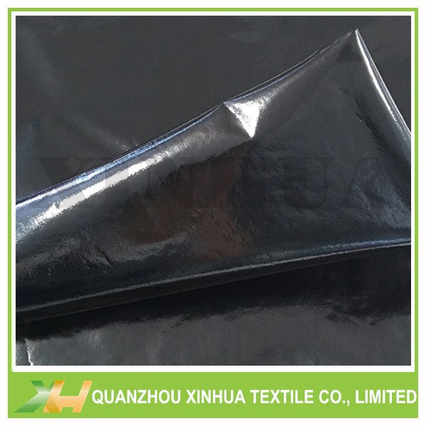 Xinhua Textile Supply Glossy Black Color Laminated Nonwoven Fabric