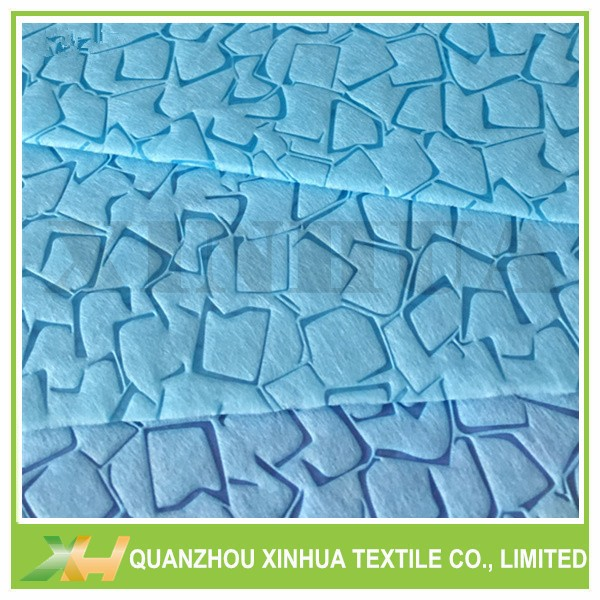 100% PP Spunbond Non Woven Fabric with Stone Embossed for Shopping Bags