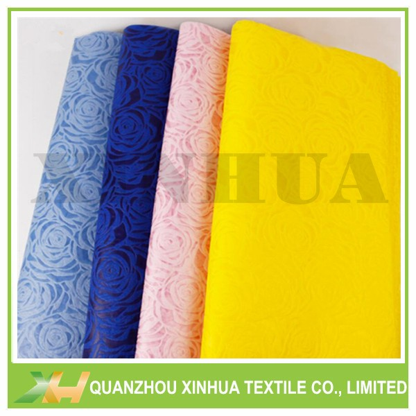 Rose emboss pp spunbond TNT nonwoven fresh flower wrapping paper