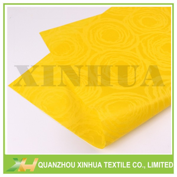 Yellow Color PP Spunbonded Circle Embossing Nonwoven