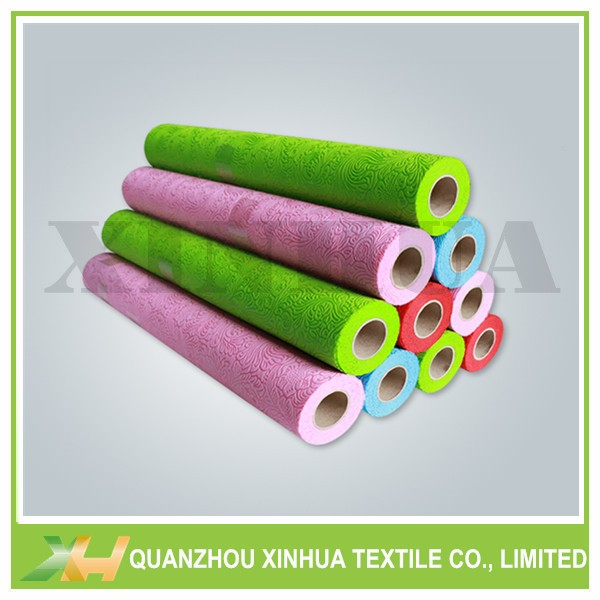 Beautiful Flower Emboss TNT Non Woven Fabric Roll