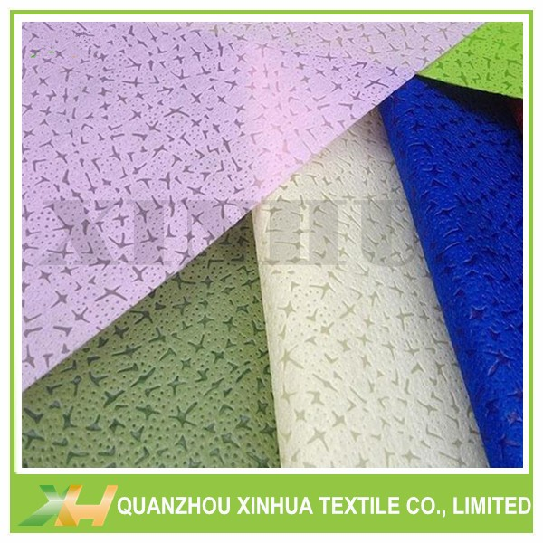 Leather Embossing TNT Non woven Fabric for Flowers