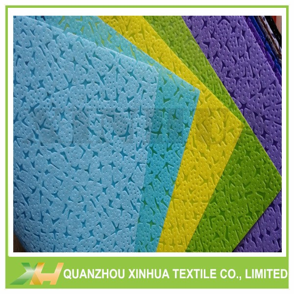 Special leather emboss pp spunbond nonwoven fabric for flower wrapping & packing