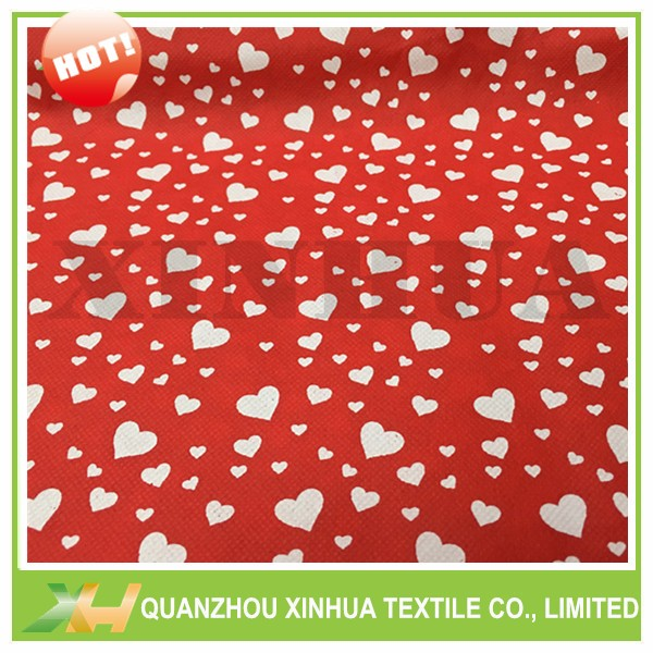 Valentine's Day White Heart Print TNT Nonwoven