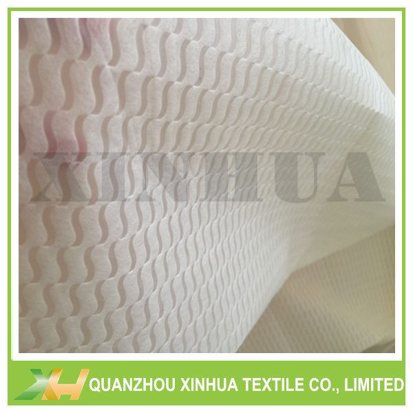 Wave emboss pp spunbonded non woven flower wrapping paper