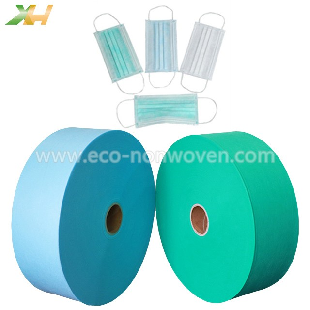 20G & 25G Small Width Blue & Green PP Spunbond Non-woven Fabric for Face Mask