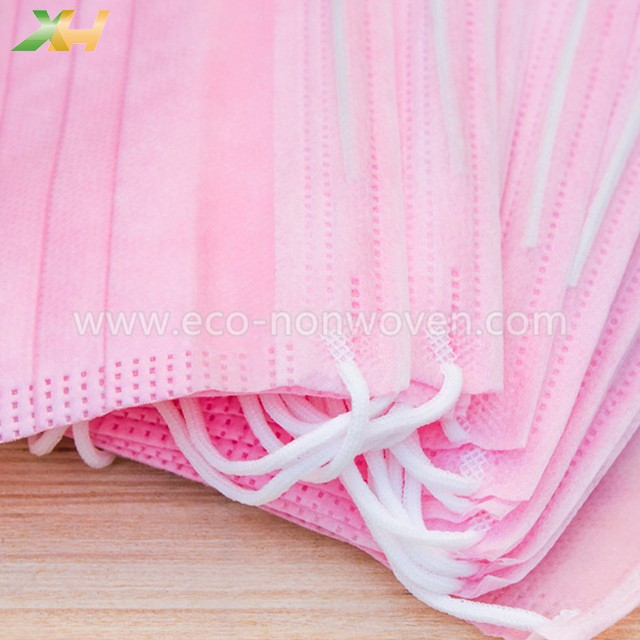 Disposable Super Soft Pink Color Nonwoven for Face Mask