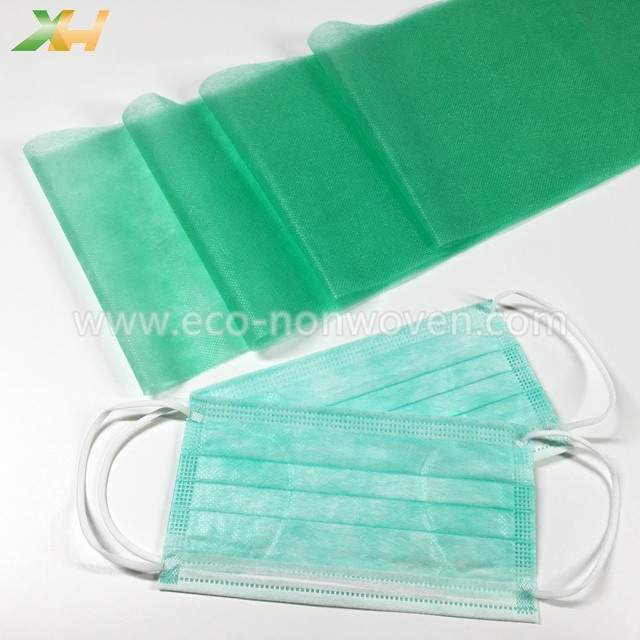 Medical Green Polypropylene Spunbond Best Non Woven Fabric for Face Mask