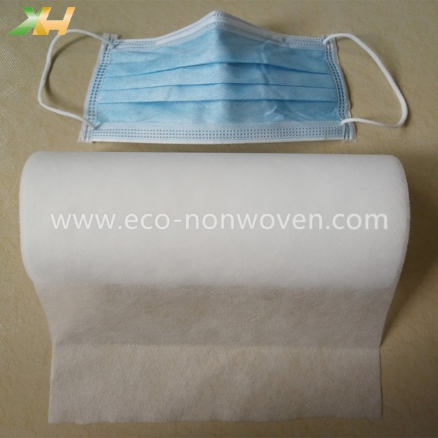 Medical Light Blue and White 100% PP Raw Material Disposable Face Mask Non Woven