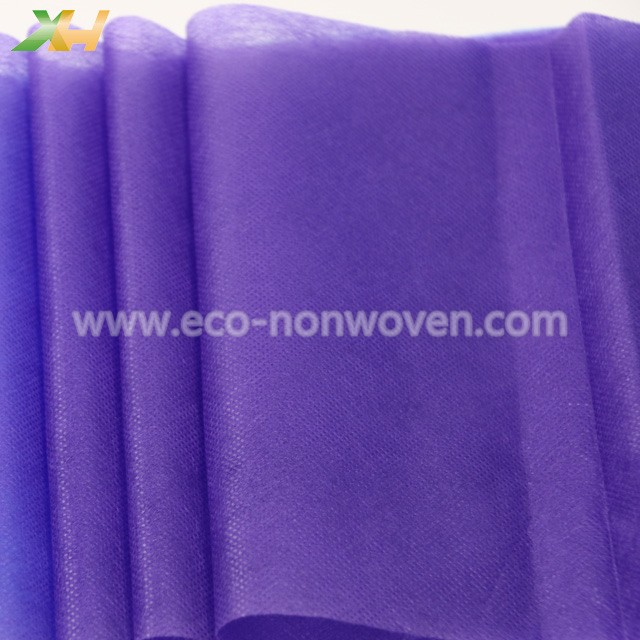 Soft Good Hand-feeling Purple Color PP Spunbond Nonwoven for Face Mask