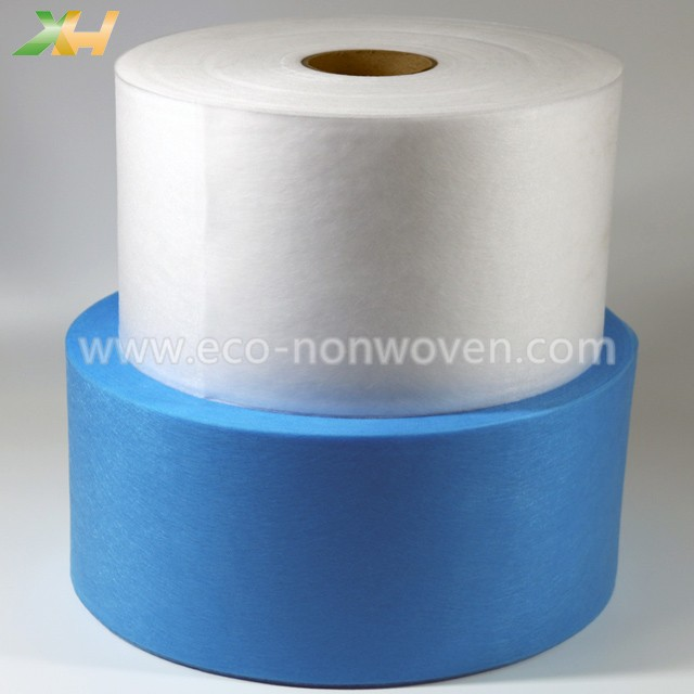 Medical Blue & White PP Spunbond Non Woven Fabric for Face Mask 3PLY