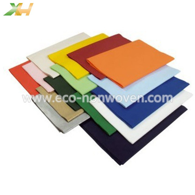 1x1m, 1.2x1.2m, 1.4x1.4m colorful pp spunbond nonwoven tnt tablecloth