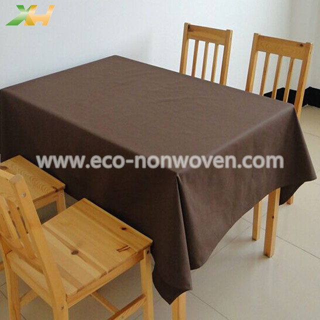 30-60gsm Brown Color PP Spunbond Non Woven Table Cloth