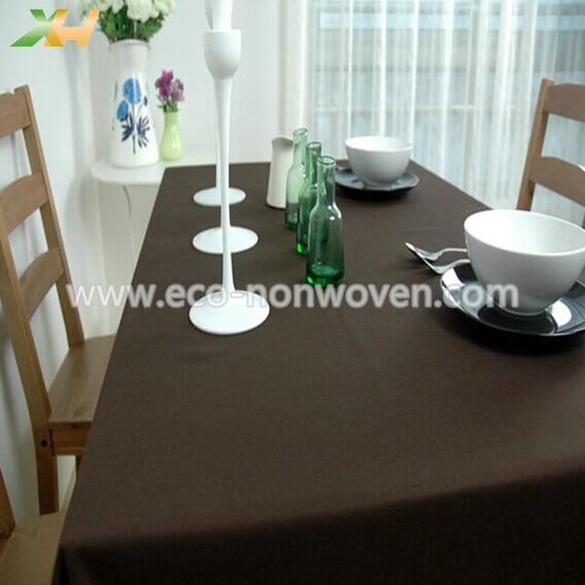 30-60gsm Brown Color PP Spunbond Non Woven Table Cloth