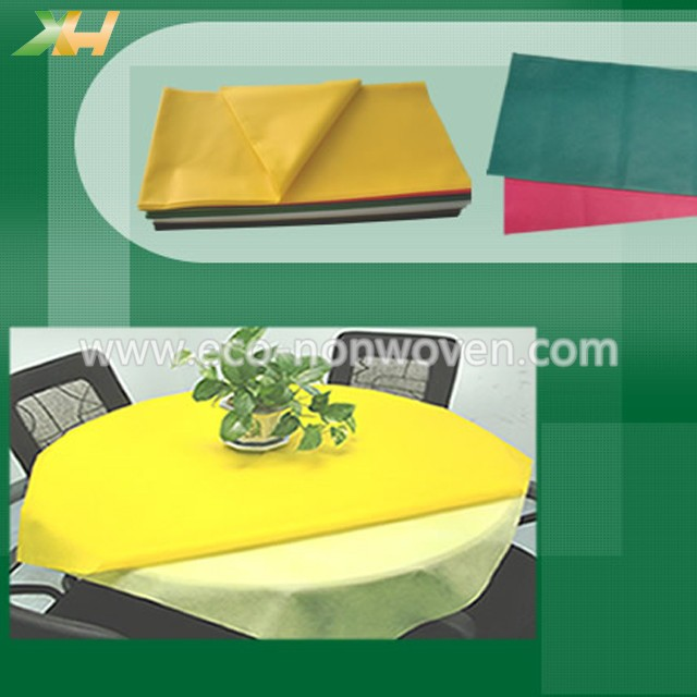 45 & 50gr yellow nonwoven table cloth