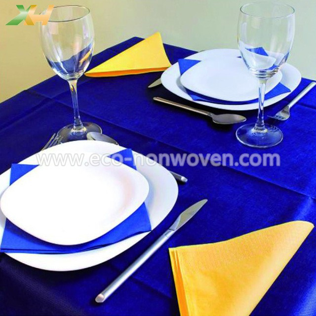 Any customized size blue pp spunbond/ tnt nonwoven placemat