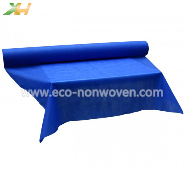 Blue color customized size pp spunbond tnt non woven table roll (can be pre-cut)
