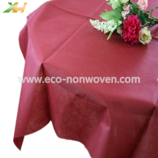 Burgundy Color PP Spunbond Non Woven Table Covers Rolls