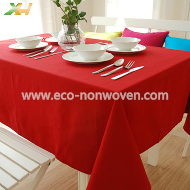Burgundy color pp spunbond non woven table cloth