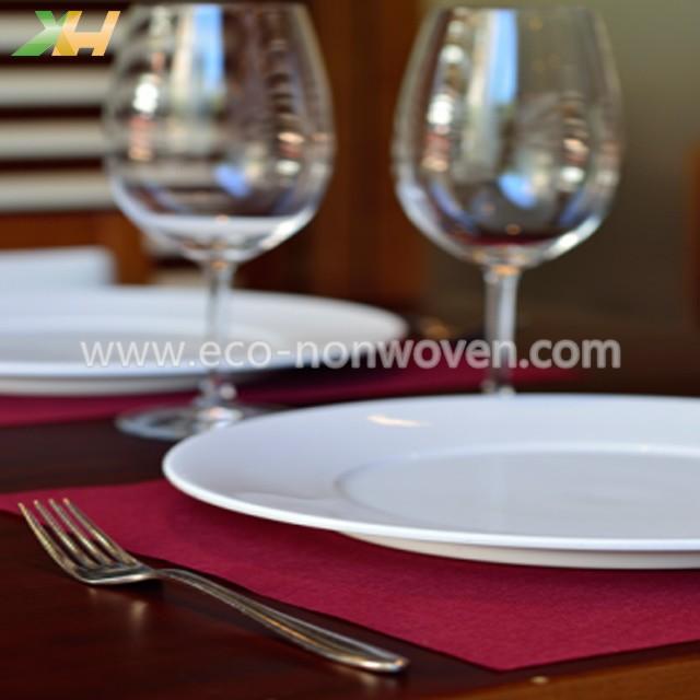 Burgundy color pp spunbond tnt non woven placemat