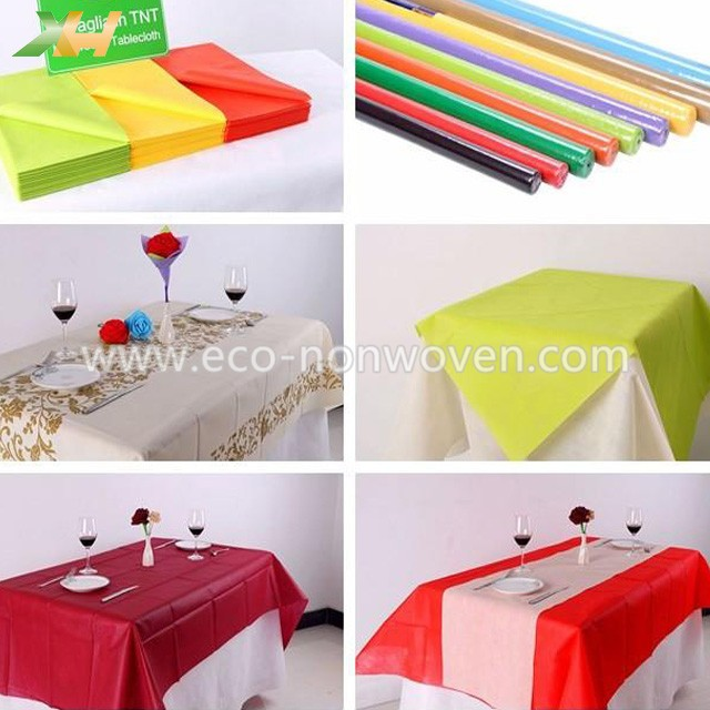 Colorful Disposable TNT Non Woven Tablecloth