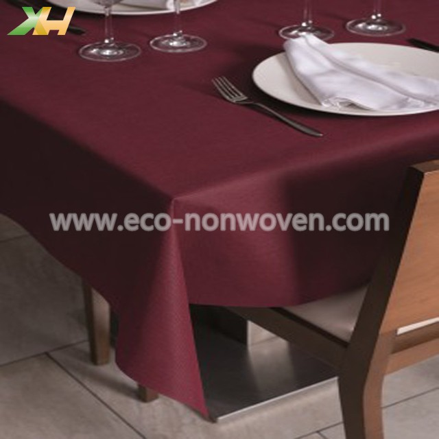 Colorful customized size pp nonwoven tablecloth