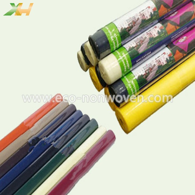 Eco-friendly Colorful Non Woven Tablecloth Roll