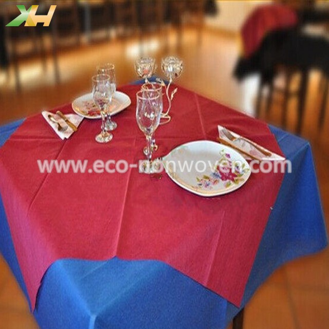 Folded Piece 45/50/60gr Nonwoven Tablecloth For Restu