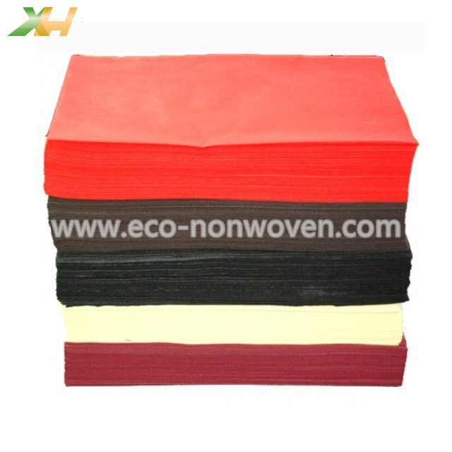 Hot Sale Burgundy Color 40/45/50/60gr Nonwoven Tablecloth