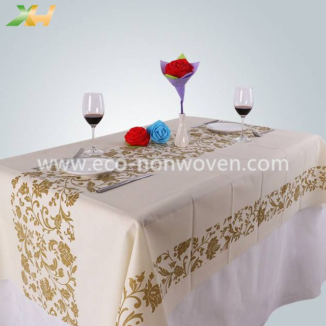 Israel Gold Printing PP Spunbond Nonwoven Fabric Table Cloth