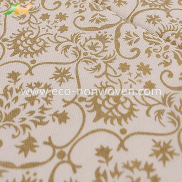 Israel Hot Sell Gold/ Silver Printing PP Spunbond Non Woven Tablecloth Roll