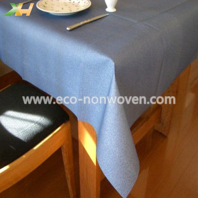 Italy & Spain use colorful pp spunbonded non woven tablecloth 120 x 120cm