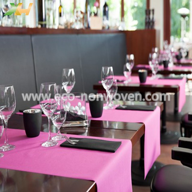 Pink pp spunbond tablecloth nonwoven for wedding