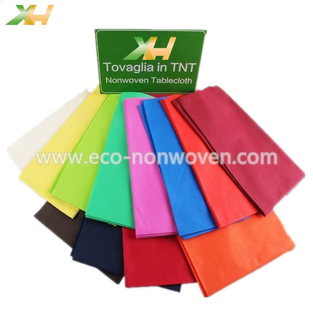 Polypropylene Spunbond Nonwoven Table Cloth in Different Designs & Packings