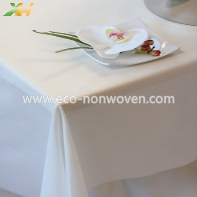 Xinhua textile factory produce white spunbond pp nonwoven tablecloth