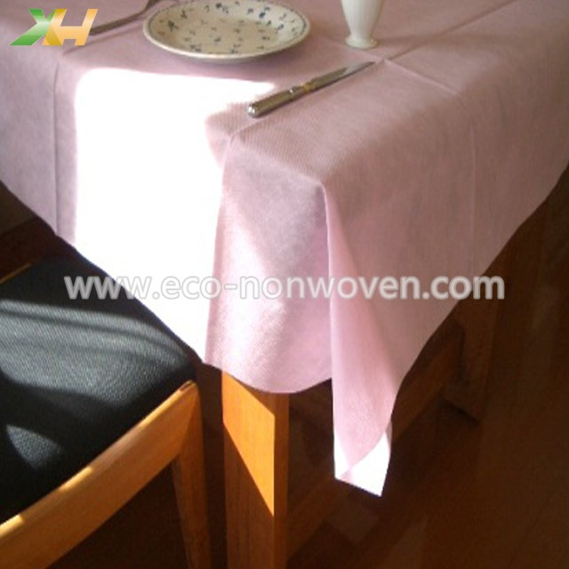 Xinhua textile factory produce white spunbond pp nonwoven tablecloth