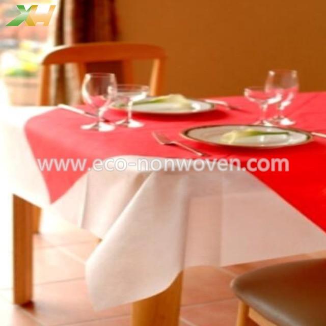 Xinhua textile factory supply pp spunbond disposable non woven table cloth