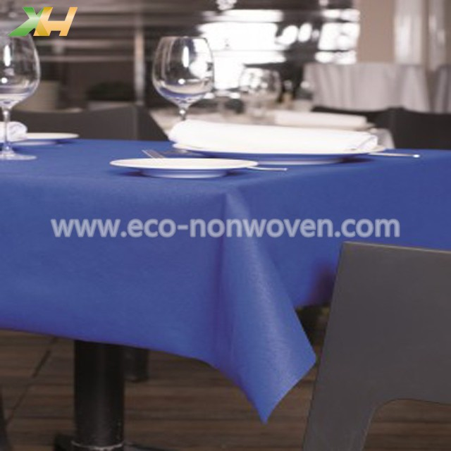 disposable blue nonwoven tablecloth pp spunbond tnt nonwoven