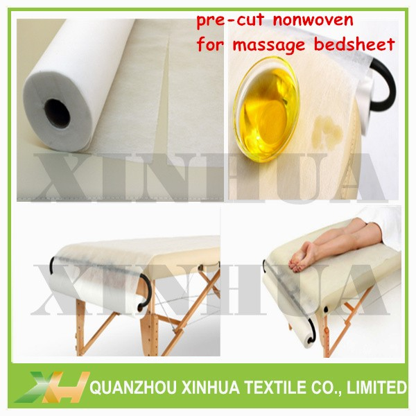Medical/ spa use precut pp spunbond non woven bed sheet cloth