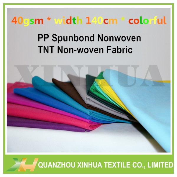 Colorful 40GSM TNT/ PP Spunbond Nonwoven Fabric for Brazil Market