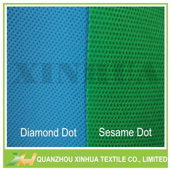 Diamond Dot or Sesame Dot PP Nonwoven TNT Nonwoven